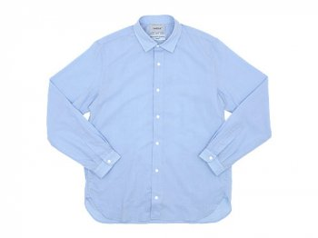 YAECA COMFORT SHIRT LONG BLUE 〔メンズ〕