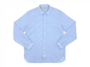 YAECA コンフォートシャツ ロング BLUE 〔メンズ〕
