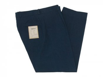 YAECA CHINO CLOTH PANTS TUCK TAPERED NAVY 〔メンズ〕