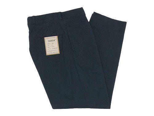 YAECA CHINO CLOTH PANTS TUCK TAPERED DARK NAVY 〔メンズ〕