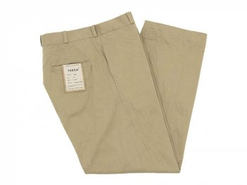 YAECA CHINO CLOTH PANTS WIDE KHAKI 〔メンズ〕