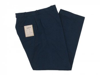 YAECA CHINO CLOTH PANTS WIDE NAVY 〔メンズ〕