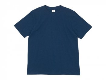 YAECA STOCK 半袖 オーガニックTシャツ NAVY 〔メンズ〕