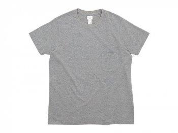 YAECA STOCK ポケットTシャツ GRAY 〔メンズ〕