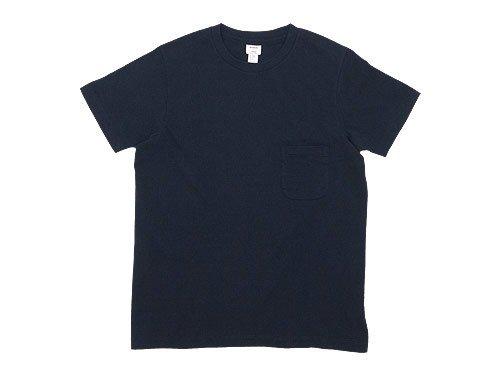 YAECA STOCK ポケットTシャツ NAVY 〔メンズ〕