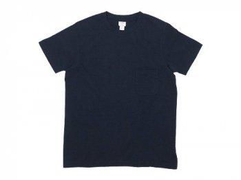 YAECA STOCK ポケットTシャツ NAVY 〔メンズ〕 【38004】