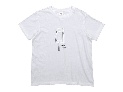 YAECA STOCK PRINT T-SHIRTS ICE CREAM 〔メンズ〕