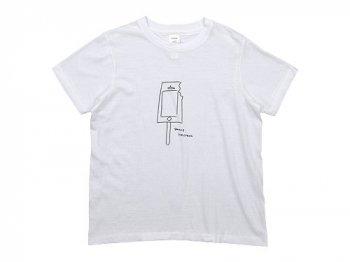 YAECA STOCK プリントTシャツ ICE CREAM 〔メンズ〕