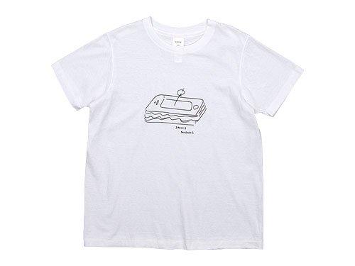 YAECA STOCK プリントTシャツ SANDWICH 〔メンズ〕