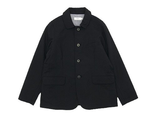 RINEN 2/36ウール平織 カバーオールジャケット 10ブラック〔レディース〕