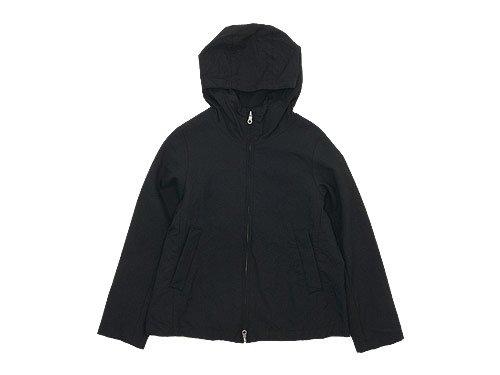 RINEN 2/36ウール平織 フーデッドブルゾン 10ブラック 〔レディース〕