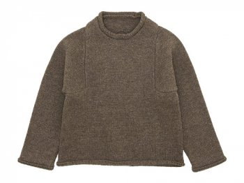 Lin francais d'antan Mullan Shetland Knit BROWN