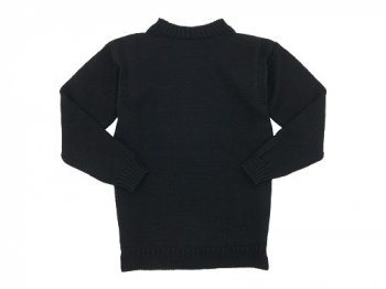 Guernsey Woollens Traditional guernsey plain BLACK