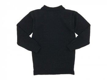Guernsey Woollens Traditional guernsey plain BLACK
