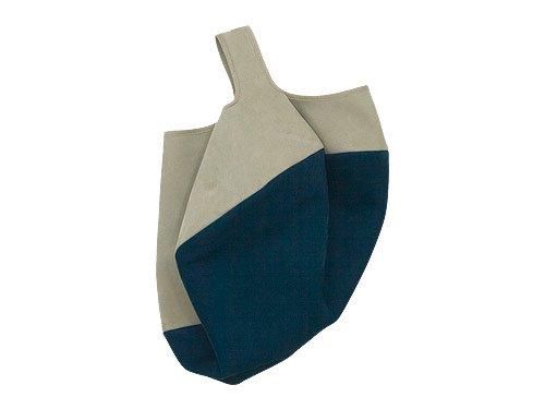 カンダミサコ circle bag MIDI 7:LIGHT GRAY x DARK BLUE