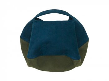 カンダミサコ circle bag mini 34:DARK BLUE x OLIVE