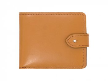 MARGARET HOWELL BRIDLE LEATHER FOLDED WALLET 051CAMEL