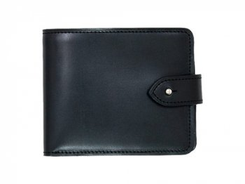 MARGARET HOWELL BRIDLE LEATHER FOLDED WALLET 010BLACK