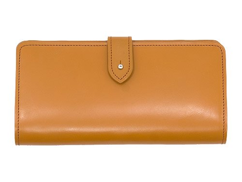 MARGARET HOWELL BRIDLE LEATHER LONG WALLET 051CAMEL