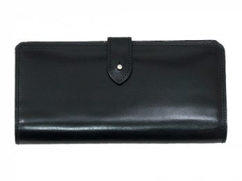 MARGARET HOWELL BRIDLE LEATHER LONG WALLET 010BLACK