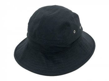 MHL. RAISED COTTON DRILL HAT 010BLACK
