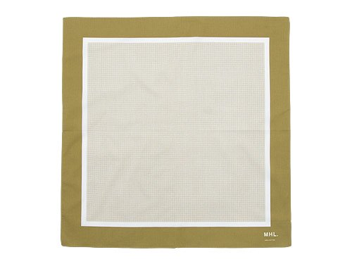 MHL. TINY CHECK SCARF 063KHAKI