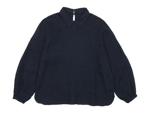maillot mature airly linen mini collar smock shirt NAVY