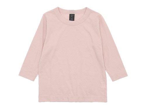 homspun 天竺七分袖Tシャツ ライトピンク 【6450】