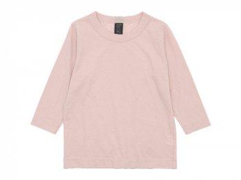 homspun 天竺七分袖Tシャツ ライトピンク