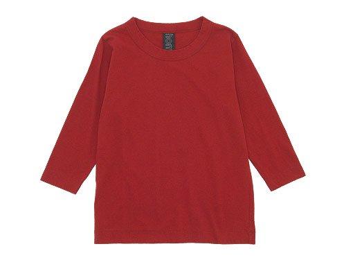 homspun 天竺七分袖Tシャツ レッド