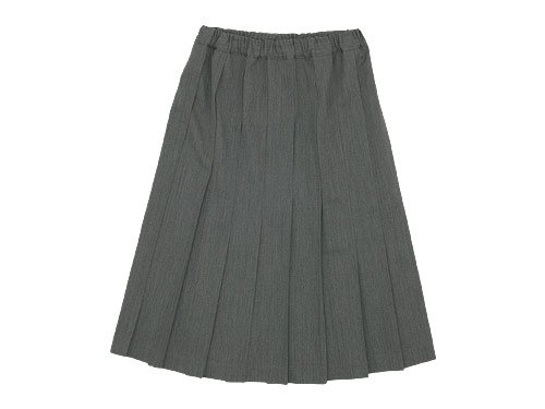 Charpentier de Vaisseau Belle Pleated Skirt LIGHT GRAY