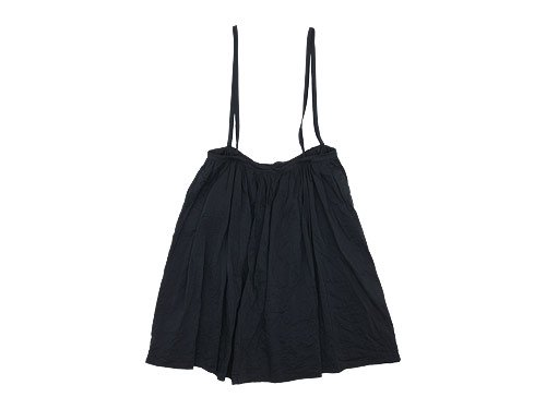 TOUJOURS Drawstring Suspender Skirt NAVY 【TM28IK04】