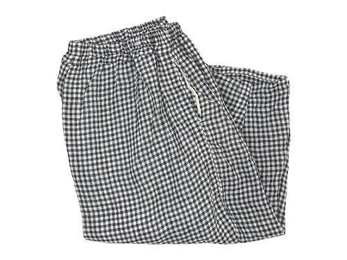 ordinary fits ball pants check WHITE x BLACK