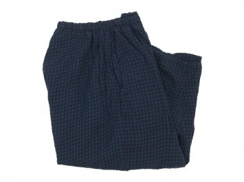 ordinary fits ball pants check BLUE x BLACK