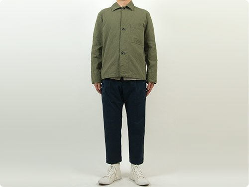 MHL. JAPANESE COTTON CANVAS 3BUTTON JACKET 180OLIVE〔メンズ〕