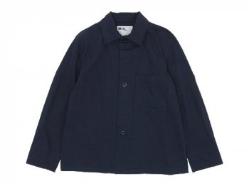 MHL. YARN DYE TWILL 3BUTTON JACKET 115NAVY〔メンズ〕