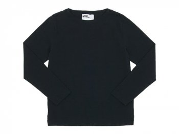 MHL. DRY COTTON JERSEY L/S T-SHIRTS 010BLACK 〔メンズ〕