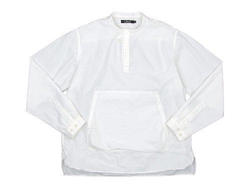 LOLO スタンドカラー プルオーバーシャツ WHITE
