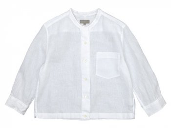 MARGARET HOWELL SHIRTING LINEN NO COLLAR SHIRTS 030WHITE 〔レディース〕