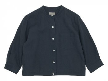 MARGARET HOWELL SHIRTING LINEN NO COLLAR SHIRTS 023CHARCOAL 〔レディース〕