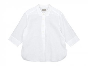 MARGARET HOWELL SHIRTING LINEN SUMMER PULL ON SHIRTS 030WHITE 〔レディース〕
