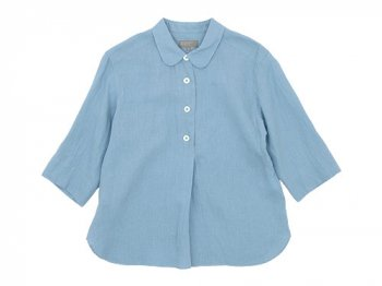 MARGARET HOWELL SHIRTING LINEN SUMMER PULL ON SHIRTS 112ASH BLUE 〔レディース〕