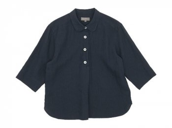 MARGARET HOWELL SHIRTING LINEN SUMMER PULL ON SHIRTS 023CHARCOAL 〔レディース〕