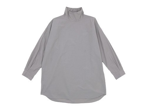 TOUJOURS High Neck Big Shirt CEMENT 【MM28DS01】