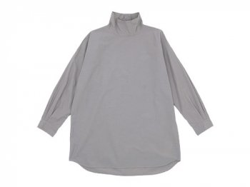 TOUJOURS High Neck Big Shirt CEMENT