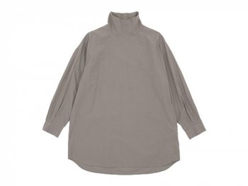 TOUJOURS High Neck Big Shirt TAUPE