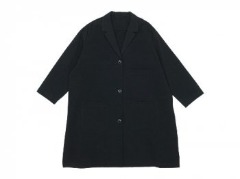 Lin francais d'antan Godard(ゴダール) Cotton Coat BLACK