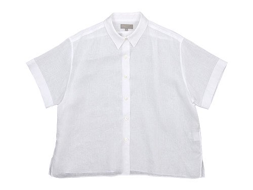 MARGARET HOWELL LINEN VOILE PJ SHIRTS 030WHITE 〔レディース〕