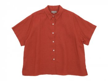 MARGARET HOWELL LINEN VOILE PJ SHIRTS 105CORAL 〔レディース〕