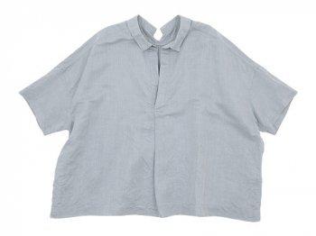 TOUJOURS Open Back Yolk Skipper Shirt LIGHT GRAY 【KM28PS01】